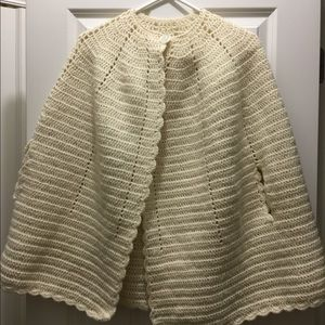 Vintage knitted cape sweater